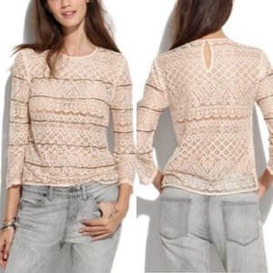 Madewell Broadway & Broome Beaded Lace Top M